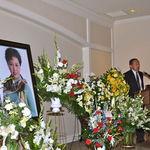 Erik Han speaking at memorial