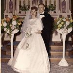 Patty and Marv's wedding picture 1958