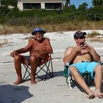 Ryan & Papa at the Beach ( Beach access 7)