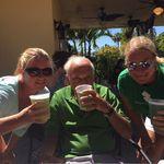 Papa & the twins on Sanibel on St. Patty's Day!
