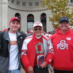 Mark, his dad, and nephew David in front of the OSU Horseshoe.  David and Gramps had tickets, Mark & Sharon had a ball watching the game together back at the hotel.