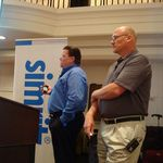 "Mark and Joe the ""Dynamic Duo"" presenting a success story at the recent Simrit sales conference in Chicago."