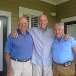 Glenn, Tom and I on Glenn's back porch