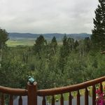 View from Ernie and Yolie's Wyoming balcony when Susie, Bernie and I visited in July 2017.