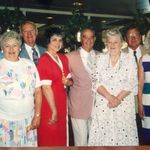 Julia and her sister's Charlotte and Mary Nelson and brother Jimmy with spouses