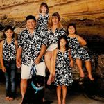 Family photo at Del Mar Dog Beach 2003. George, Terri, Amber 11, Heather 9, Kayla 7, Megan 5 and Charlie (our dog).