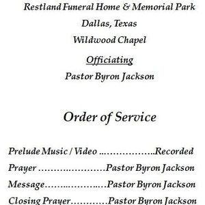 Jessie White Obituary Melissa Texas Restland Funeral Home And Cemetery