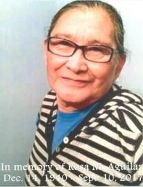 Rosa M. Salvador De Aguilar obituary photo