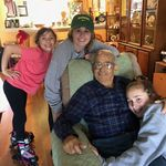 This Christmas - Grandpa and his girls, all growing up