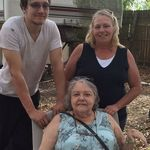 Jeremy, Lynda and Barb at Jeremy home in Florida