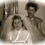 "Eleanora with Vera Karaszewski. She was her ""maid of Honor""...."