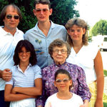 John and his family in the early days..