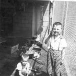 1954 Neil playing with his best friend, Jim Claeys.  Neil lived on Stinaff St.  We lived a block away on N. Mantua Street