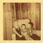 December 1953, Jim Claeys, Carolyn Claeys and Jim's friend, Neil Callen