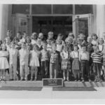 Neil Kindergarten Class, Central Elementary School, Kent Ohio.  Front row, 2nd from right