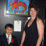 John and Mrs. Mullinax (art teacher)