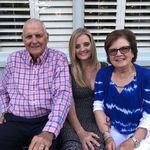 Dad, Mom and me at my birthday in May, Old Post House Mt Pleasant SC
