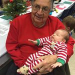 Bob holding his newest Great Grandson