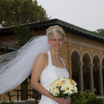 Wedding Photo where Beth looks like an angel already.