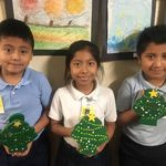The current 3rd grade class finished decorating their ornaments Today!