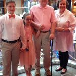 Mom & Dad with kids dinner cruise