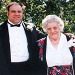 Keith and his Mom on our wedding day, June 1994