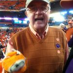 Jim at 2014 Orange Bowl! Will always remember the train trip and time we spent cheering for our Clemson Tigers!
