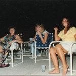 The Beautiful and Supportive Wives of The Easy Street Band. Kathy Hinson, Joette Schulte. Lorna Wall