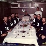 USS Stimson, 1970 Blue Wardroom. The CMDR is #10 in photo.