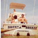 Dad,Mom and us on the Brenda Breeze