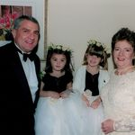 Gpop & Dawn with the flower girls, Savannah and Scarlett