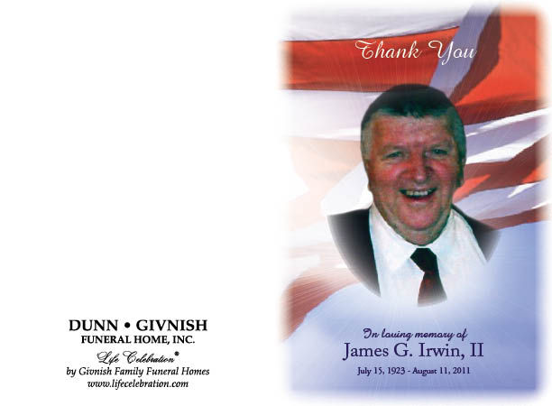 James Irwin Obituary - Columbus, New Jersey - Dunn-Givnish ...