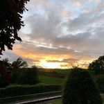 Sunset, Ballyholland, Newry, County Down, the home of the McAteer clan on the Emerald Isle