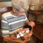 Grandma Virge and great-great grandson Wesley