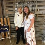 Grandma Virge at great grand daughter, Kylee's  graduation party