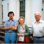 Aubrey with Bill Fontaine (Aubrey's partner of many years) and with his mother, Rose Virginia Hancock at their Wentworth Street home (undated)