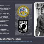 Welcome home Sergeant Robert C. Dakin. So sorry it took so long to send