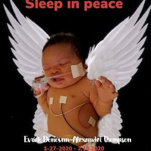 Baby boy Evrick Donovan-Alexander Thompson
