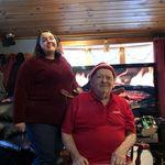 Catherine and Papa Christmas 2019
