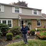Pat in front of her home in Warminster, PA