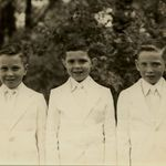 Bob is on the right and we are in our 1st Communion Suits and wore them the school the following week.