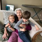 Michael and Xander with great grandma