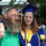 daddy at my high school graduation