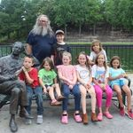 papa and most of the grandkids june 2020
