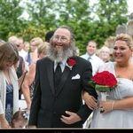dad walking his sister in her wedding 2013