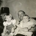 Shirley, Papaw (grandfather), and Pam (sister)