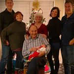 Jake (son-in-law), Claire (daughter), Shirley, Jhey (daughter), Jason (son-in-law), Charles (husband), and Atlas James (grandson)