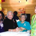 2018 -100th Birthday Celebration for Dr. Charles H. Wright.  Patricia with friends, at the museum.B