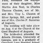 Wedding Announcement for Charlie and Martha
