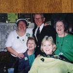 Beverly enjoys St Patrick's Day with friends Joanie, Dale, CT and Joe
